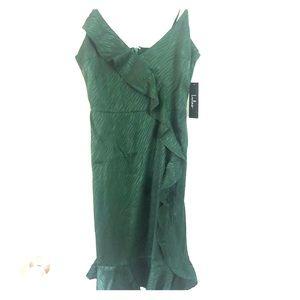 Lulu's Emerald Ruffle Dress